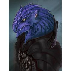 m Dragonborn Warlock blue