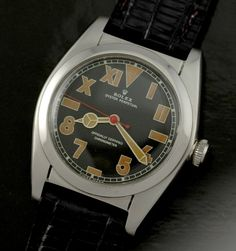 """Rolex bubble back with """"California"""" style dial. Cool Watches, Rolex Watches, Watches For Men, Wrist Watches, Vintage Rolex, Vintage Watches, Oyster Perpetual, Beautiful Watches, Stainless Steel Case"""