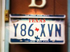 "Texas ""Lone Star State"" License Plate"