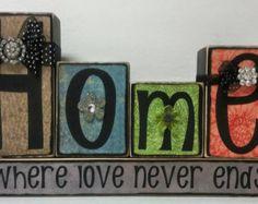 Family is everything Home Wood Block Set Gift by jodyaleavitt