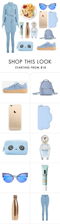 """""""Blue shirtdress"""" by fashionlovesmia ❤ liked on Polyvore featuring Fendi, STELLA McCARTNEY, Anya Hindmarch, Marc Jacobs, Clinique, S'well, Miss Selfridge and Michael Kors"""