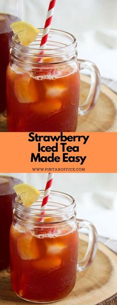 Strawberry Iced Tea Made Easy #drink #summerdrink #easy