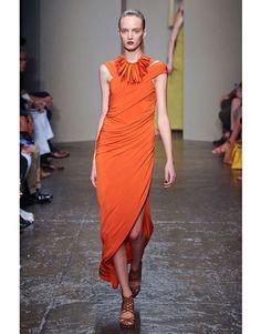 Donna Karan Spring 2012 Orange Dress