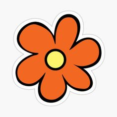 High quality Scooby Doo Flowers gifts and merchandise. Inspired designs on t-shirts, posters, stickers, home decor, and more by independent artists and designers from around the world. Printable Stickers, Cute Stickers, Flower Wallpaper, Iphone Wallpaper, Scooby Doo Tattoo, Scooby Doo Images, Hippie Flowers, Orange Aesthetic, Indie Room