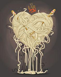 #hearth #noodle #pasta #illustration #hunger #games
