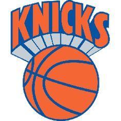 NBA New York Knicks Primary Logo - Knicks in orange over an orange basektball New York Knicks Logo, Nba New York, Hakeem Olajuwon, Penny Hardaway, New Orleans Pelicans, Minnesota Timberwolves, Los Angeles Clippers, Washington Wizards, Indiana Pacers