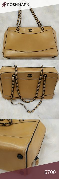Authentic vintage Chanel Shoulder Bag Vintage and beautiful this structured purse is really versatile. Please see pictures for condition. Camel in color. 13x8.5x4.5.😊 CHANEL Bags Shoulder Bags