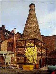 Experimental muffle kiln with circular hovel at Moorland Pottery Works, Burslem