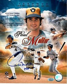 """HOF Paul Molitor Signed 8x10 Photo 1978-98 Brewers Twins Blue Jays MAB HOLO . $60.00. Hall of Fame Major League DH, Third Baseman and Second BasemanPaul MolitorHand Signed 8x10"""" Color Montage PhotographMolitor Played For:Milwaukee Brewers 1978-1992Toronto Blue Jays 1993-1995Minnesota Twins 1996-1998.WONDERFUL AUTHENTIC PAUL MOLITOR BASEBALL COLLECTIBLE!!SIGNATURE IS GUARANTEED AUTHENTIC BY MAB CELEBRITY SERVICES WITH HOLOGRAM MAB STICKER ON ITEM AND MAB CERTIFICATE ..."""