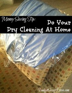 How to Save Money Dry Cleaning at Home