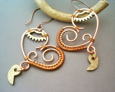 Steampunk Mechanical Hearts Wire Wrapped Copper by GearsFactory, €21.00