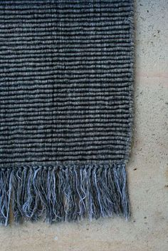 Our all natural Ribbed wool in Charcoal. Best suited - Lounge rooms, bedrooms & studies – spaces requiring a smart, versatile & elegant texture which adds depth and character to the space.