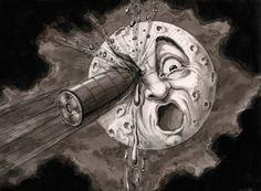 p Georges Méliès. ¡¡De lleno en el ojo!!br Recomposición de una escena de la película emVoyage dans la Lune/em [emViaje a la Luna/em, 1902], c. 1930.br La Cinémathèque française. Foto Stéphane Dabrowski/p