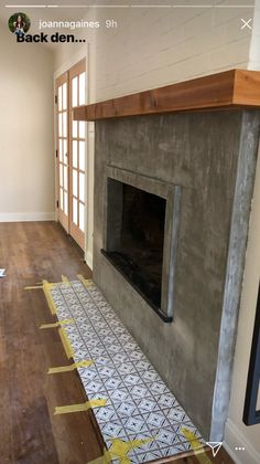 Newest Snap Shots two story Fireplace Remodel Ideas Concrete fireplace from Joanna Gaines' insta stories, Concrete Fireplace, Fireplace Mirror, Fireplace Remodel, Farmhouse Fireplace, Home Fireplace, Faux Fireplace, Marble Fireplaces, Fireplace Inserts, Fireplace Design