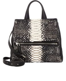Python Pandora Flap-Front Shoulder Bag