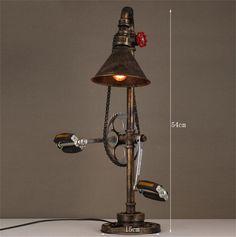 tuyau de chaîne en métal de style industriel Fer Vintage créatif salon lampe étude restaurant lampe chambre chevet de la personnalité: Amazon.fr: Cuisine & Maison
