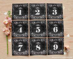 numéros de table gratuits à imprimer from botanicalpaperworks.com