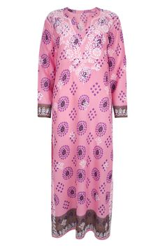The Alexandra maxi dress kaftan in Pink from www.beachcover.com