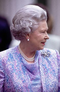 Queen Elizabeth II - At Clarence House on the occasion of the Queen Mothers 97th Queen Elizabeth II - At Clarence House on the occasion of the Queen Mothers 97th Birthday in profile. (Photo by Jeff Overs/BBC News & Current Affairs via Getty Images)