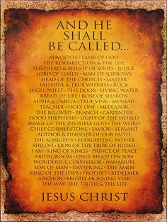 Names for Jesus