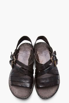21e4832d244a2 OFFICINE CREATIVE Dark Brown Leather Apuana 2.5 Sandals