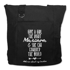 The Right Mascara Black Zippered Tote Bag