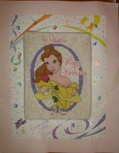 X-Stitch - Princess Birthday Card