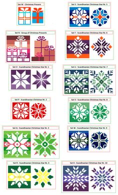Small Christmas cross stitch patterns by CrossStitchtheLine on Etsy.