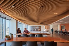 The Atmosphera® Analog ceiling system brings truly innovative, cutting-edge beauty to architecture and interior design. Office Plan, Open Office, Office 2020, Mini Office, Baffle Ceiling, Base Building, Chicago, Ceiling Panels, Acoustic Panels