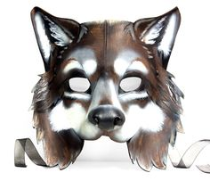 Leather Wolf Mask by SurlyBunny on Etsy, $155.00