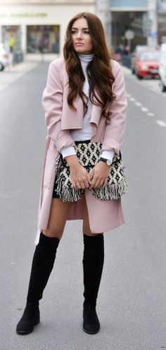 #fall #fashion / pink trench coat