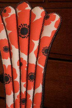 Vintage chair, Orange poppys