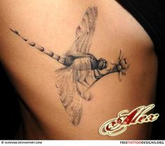 Dragonfly tattoo - Click image to find more Art Pinterest pins