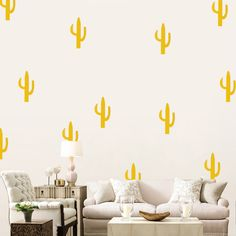 Nordic Style Desert Style Cactus Wall Stickers Children's Bedroom Bedroom Dorm Living Room Decoration-in Wall Stickers from Home & Garden on Aliexpress.com | Alibaba Group