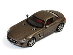 IXO Mercedes Benz SLS Diecast Model Car This Mercedes Benz SLS AMG Diecast Model Car is Monza Grey and has working wheels and also comes in a display case. It is made by IXO and is scale (approx. Mercedes Benz Sls Amg, Mercedes Benz Models, Train Layouts, Diecast Model Cars, Honda Civic, Scale Models, Grey, Display Case, Mango