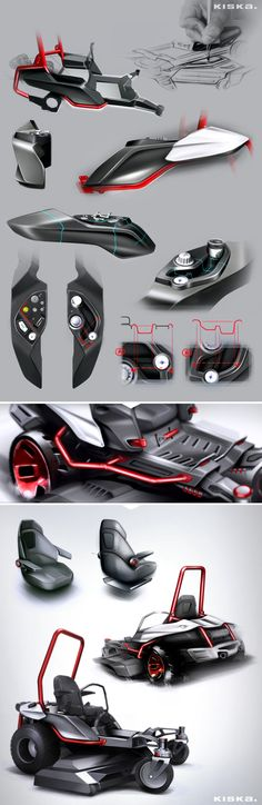 Zero-Turn Lawnmower / Designed by KISKA by André Marsiglia, via Behance