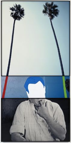 The Overlap Series: Two Palm Trees (and Person CHF with Finger in Mouth) John baldessari