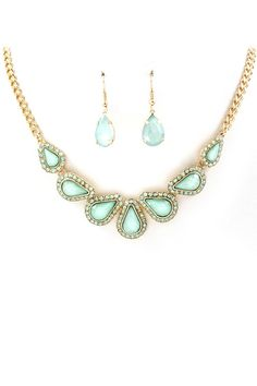 Iridescent Mint Maggie Necklace   Awesome Selection of Chic Fashion Jewelry   Emma Stine Limited  via Shopmine, get product recommendations based on people you follow!