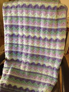 Project Gallery for Summer mist throw (link to pattern)