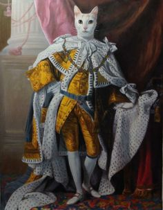 A redditor wanted her cat painted as a Renaissance Prince http://ift.tt/1YpECkM