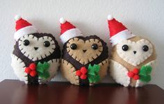 holiday christmas owl ornaments | Flickr - Photo Sharing!