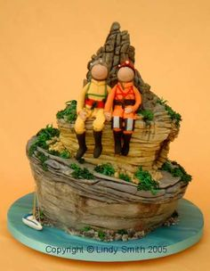 Rock Climbing Cake- this is what we needed for our wedding cake :-) Fondant, Rock Climbing Cake, Zelda Cake, Camping Cakes, Sport Cakes, Different Cakes, Character Cakes, Cake Gallery, Love Cake