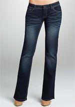 Royal Blue Diamond Wash Bootcut Jean $9.99 #coupay #Women's #fashion