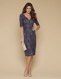 63517f23 Lacey Lace Dress | Navy | Monsoon - $63 size 4 US Navy Wedding Guest Dresses