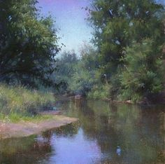 Smooth Passage by Lisa Mitchell Pastel ~ 12 x 12