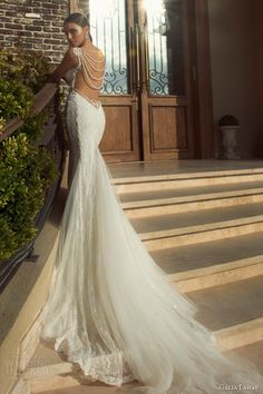 galia lahav wedding dresses 2014 jasmine gown pearl back color