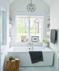 Bathroom decorated with pale shades of green