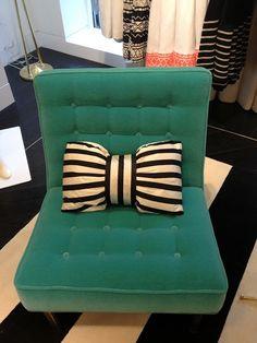 Bow pillows. Cute idea!