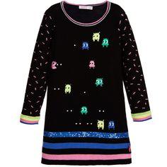 Billieblush Black Knitted Sweater Dress at Childrensalon.com