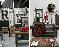 Brocante spécialisée dans le style atelier et industriel 'Metal and Woods'